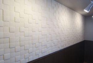 洋室の壁【after】:壁紙からエコカラットを採用し質感がグレードアップ!