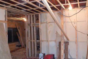 工事中の室内