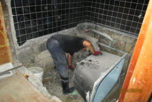 工事中のバスルーム